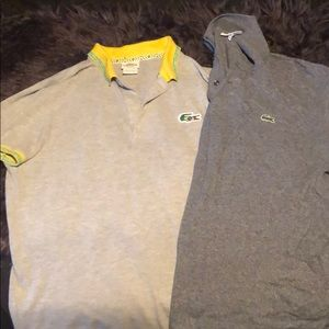 2 Lacoste polos one Brazil edition
